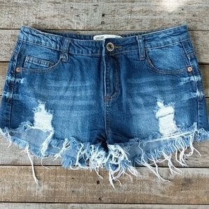 Cotton On distressed denim shorts 8